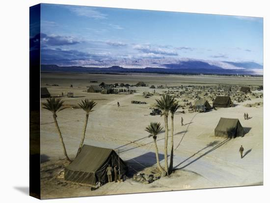 Elevated View of a Us Military Camp, Sahara, 1943-Margaret Bourke-White-Stretched Canvas Print