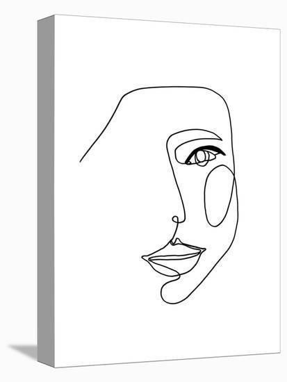 Face Line 1-Design Fabrikken-Stretched Canvas Print