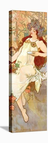 Fall-Alphonse Mucha-Stretched Canvas Print