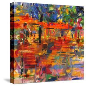 Falling Leaves, Paris-Peter Graham-Stretched Canvas