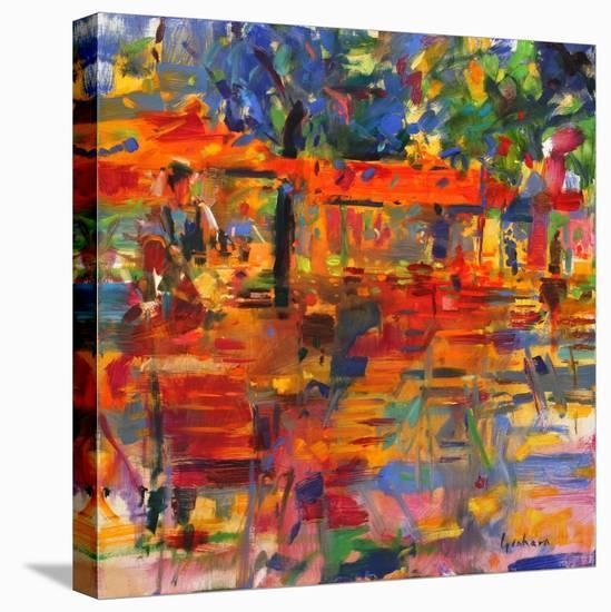 Falling Leaves, Paris-Peter Graham-Stretched Canvas Print
