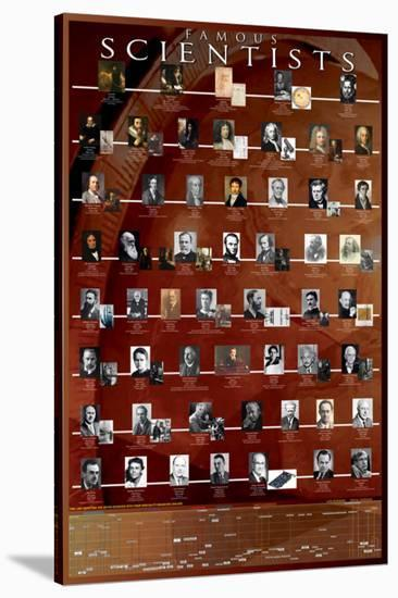 Famous Scientists--Stretched Canvas Print
