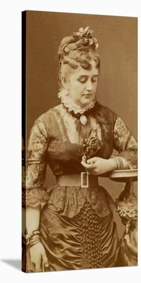 Fanny Lear, c.1875-Charles Reutlinger-Stretched Canvas Print