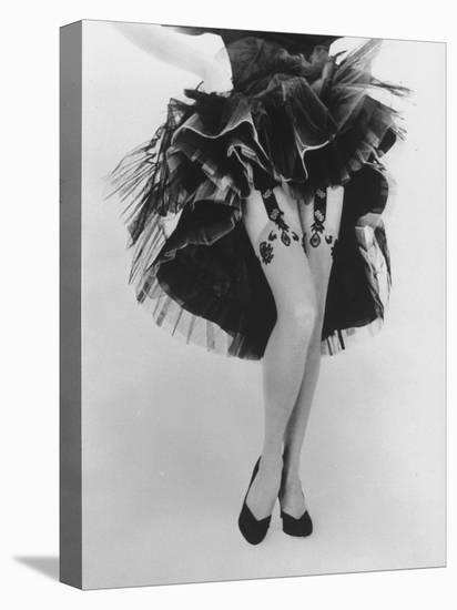 Fashion Shot of Elaborate Garter Made by Andre Richard-Gordon Parks-Stretched Canvas Print