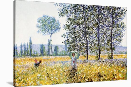 Field in Spring-Claude Monet-Stretched Canvas Print