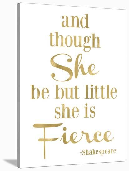 Fierce Shakespeare Golden White-Amy Brinkman-Stretched Canvas Print