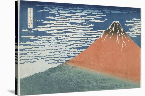 Fine Wind, Clear Weather, 1831-1834-Katsushika Hokusai-Stretched Canvas Print
