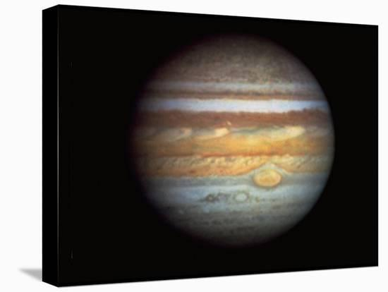 First True-Color Photo of Planet Jupiter Taken from Hubble Space Telescope--Stretched Canvas Print
