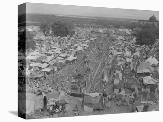 Five Million Indians Flee Shortly after the Newly Created Nations of India and Pakistan, 1947-Margaret Bourke-White-Stretched Canvas Print