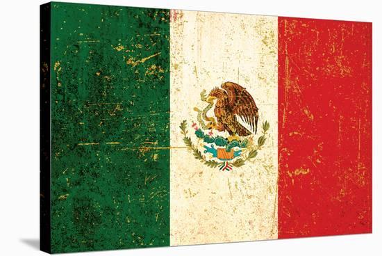 Flag of Mexico--Stretched Canvas Print