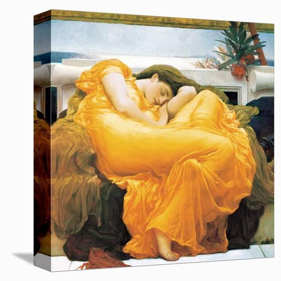 Flaming June-Frederick Leighton-Stretched Canvas Print