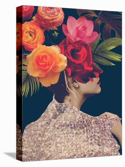 Fleur Collage II-Victoria Borges-Stretched Canvas Print