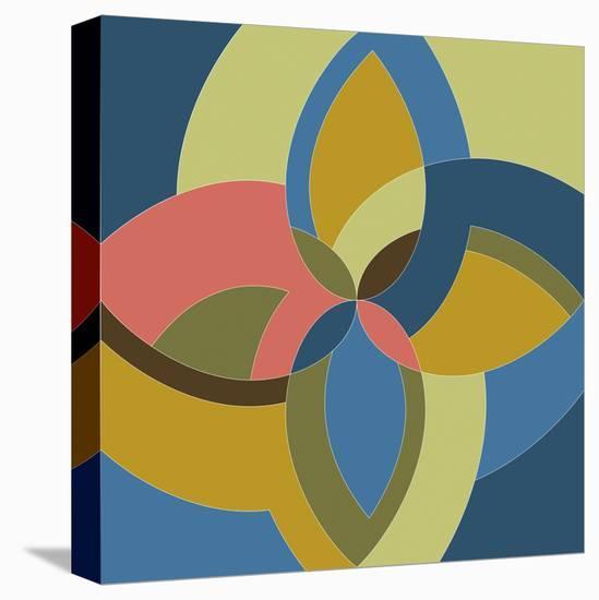 Floral Kaleidoscope-Maja Gunnarsdottir-Stretched Canvas