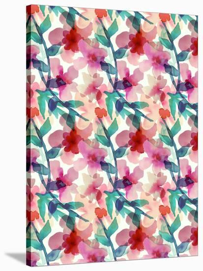 Floral Parade II-Hope Bainbridge-Stretched Canvas Print
