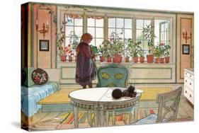 Flowers on the Windowsill, From 'A Home' series, c.1895-Carl Larsson-Premier Image Canvas