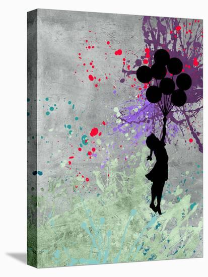 Flying Balloon Girl-Banksy-Stretched Canvas Print
