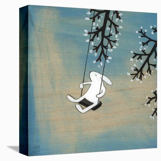 Follow Your Heart- Swinging Quietly-Kristiana Pärn-Stretched Canvas Print