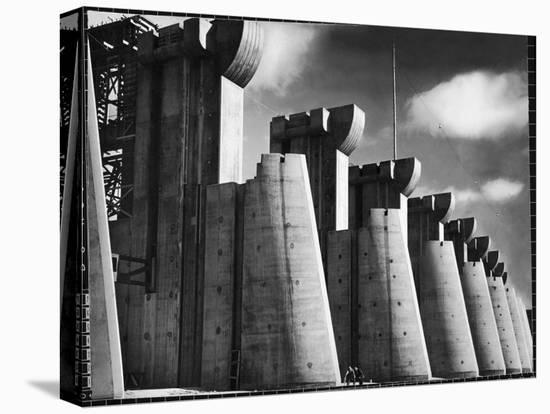 Fort Peck Dam as Featured on the Very First Cover of Life Magazine-Margaret Bourke-White-Stretched Canvas Print