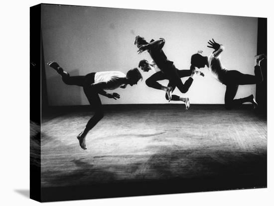 Four Male Members of the Limon Company Rehearsing-Gjon Mili-Stretched Canvas Print