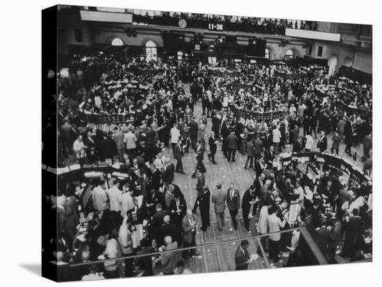Frantic Day at the New York Stock Exchange During the Market Crash-Yale Joel-Stretched Canvas Print