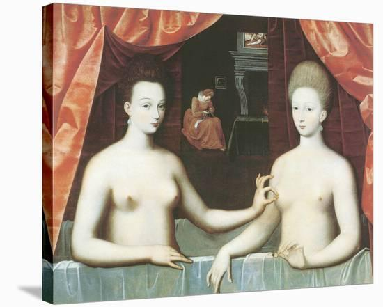 Gabrielle d'Estrees And One Of Her Sisters--Stretched Canvas Print