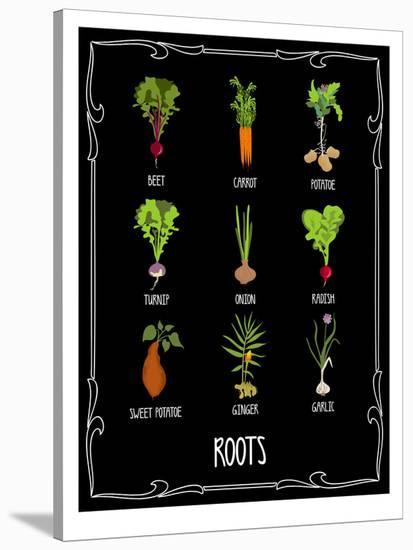 Garden Roots-Brooke Witt-Stretched Canvas Print