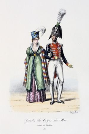 Gardes-Du-Corps De Roi, Tenue De Socièté, 1814-Eugene Titeux-Stretched Canvas Print