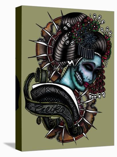 Geiko- Leighderhosen-Stretched Canvas Print