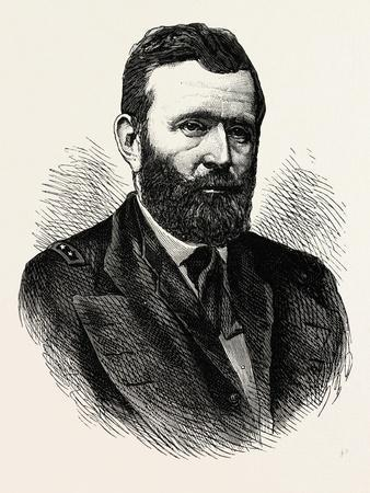 General Grant. Ulysses S. Grant Was the 18th President of the United States Following His Highly Su--Stretched Canvas Print