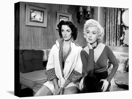 Gentlemen Prefer Blondes, Jane Russell, Marilyn Monroe, 1953-null-Stretched Canvas