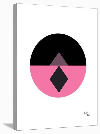 Geometric Circle-Ashlee Rae-Stretched Canvas Print