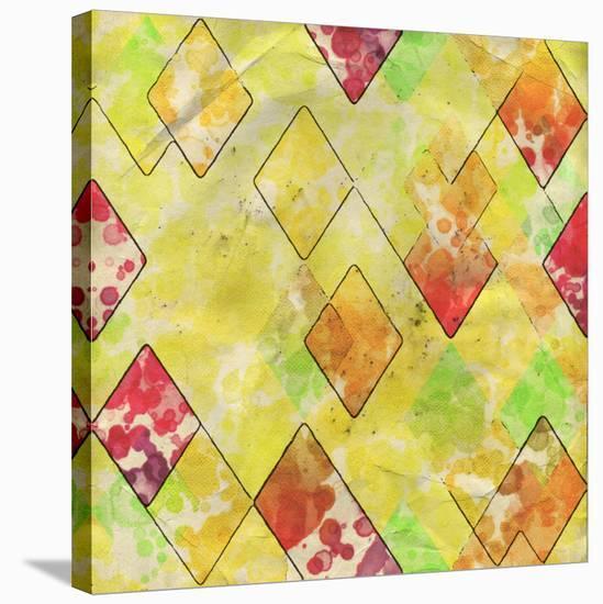 Geometric Color Shape III--Stretched Canvas Print