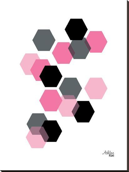 Geometric Hexagon-Ashlee Rae-Stretched Canvas Print