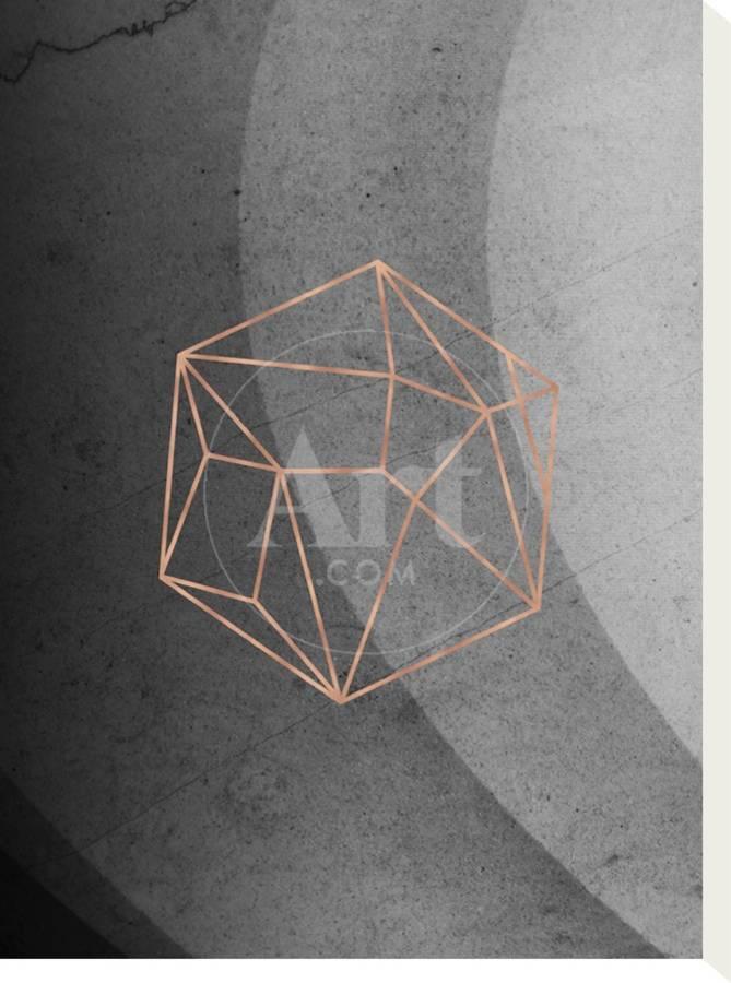 Geometric Solids On Marble Stretched Canvas Print Emanuela Carratoni Art Com