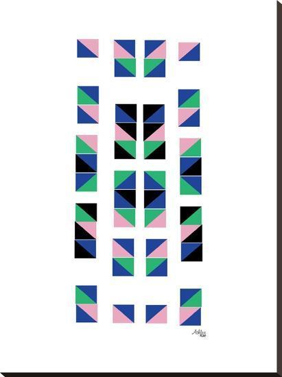 Geometric Tracks-Ashlee Rae-Stretched Canvas Print