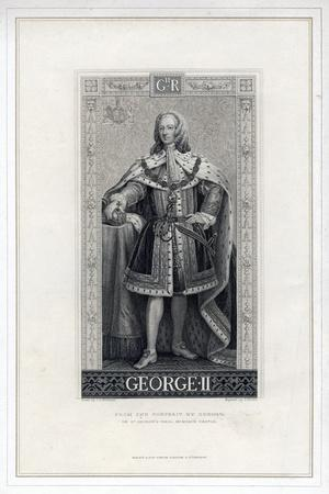 George II of Great Britain-T Brown-Stretched Canvas Print