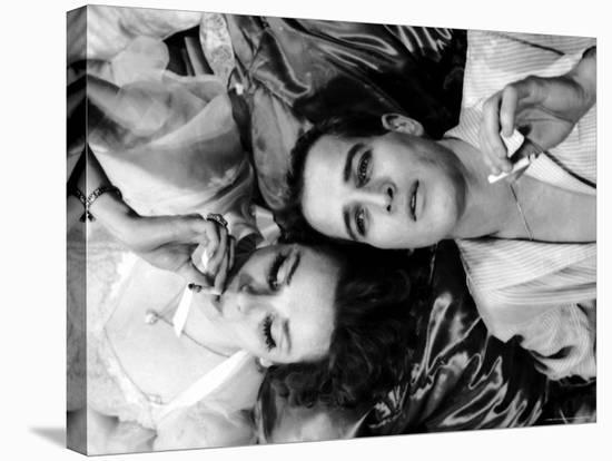 Geraldine Page and Paul Newman in a Scene from Sweet Bird of Youth-Gordon Parks-Stretched Canvas Print