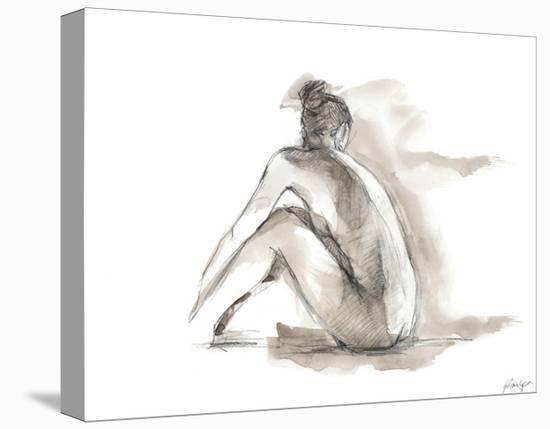 Gestural Figure Study I-Ethan Harper-Stretched Canvas Print
