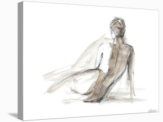 Gestural Figure Study II-Ethan Harper-Stretched Canvas Print