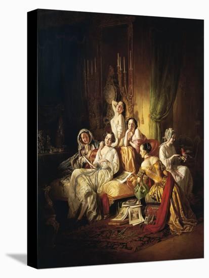 Girls after the Dance, 1850-Juan de Flandes-Premier Image Canvas