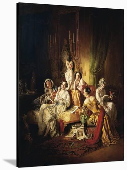 Girls after the Dance, 1850-Juan de Flandes-Stretched Canvas Print