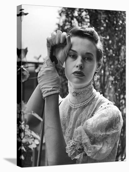 Gloria Vanderbilt Stokowski in Costume for Molnar's Play The Swan-Gordon Parks-Stretched Canvas Print