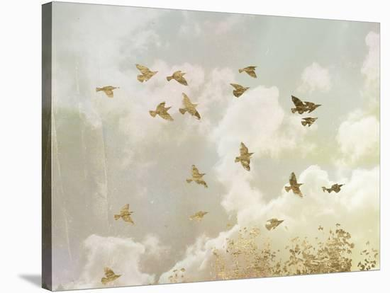 Golden Flight II-Jennifer Goldberger-Stretched Canvas Print
