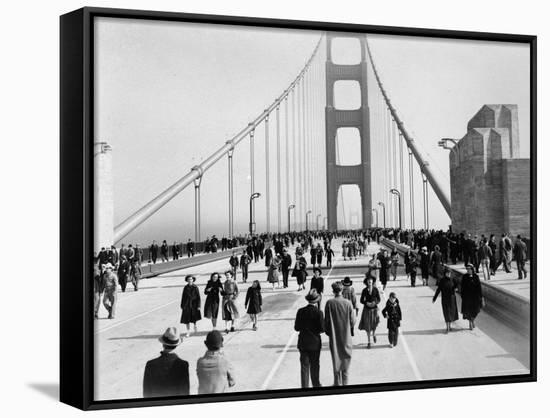Golden Gate Opening, San Francisco, California, c.1937--Framed Canvas Print