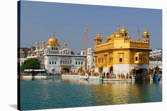 Golden Temple in Amritsar--Stretched Canvas Print