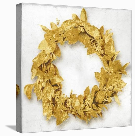 Golden Wreath I-Kate Bennett-Stretched Canvas Print