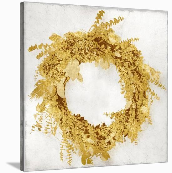 Golden Wreath II-Kate Bennett-Stretched Canvas Print
