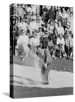 Golf Player Arnold Palmer, Blowing His Lead on the 18th Hole in the Master's Golf Tournament-George Silk-Premier Image Canvas