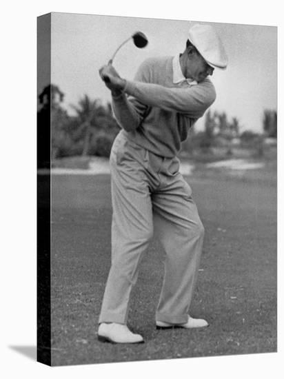 Golfer Ben Hogan, Dropping His Club at Top of Backswing-J. R. Eyerman-Premier Image Canvas