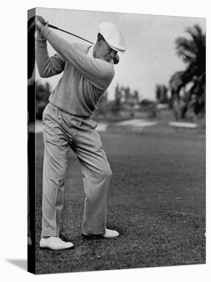 Golfer Ben Hogan, Keeping His Shoulders Level at Top of Swing-J. R. Eyerman-Stretched Canvas Print